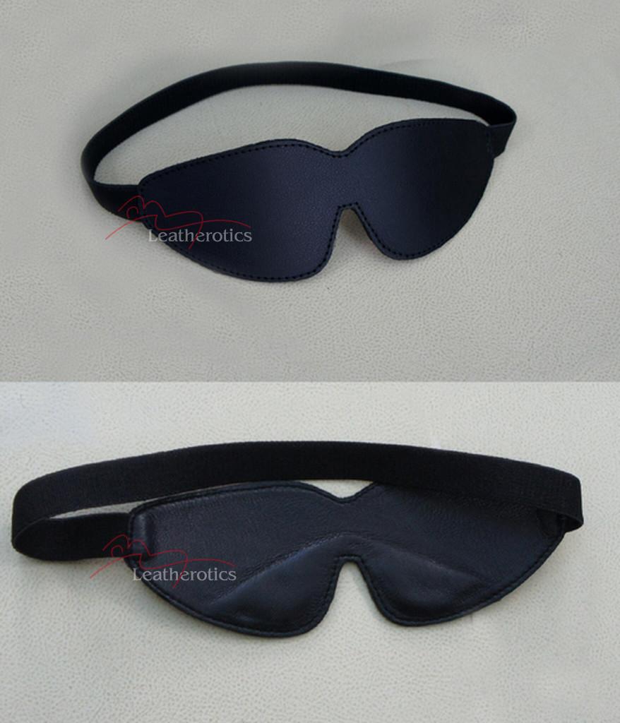 black leather eye pad