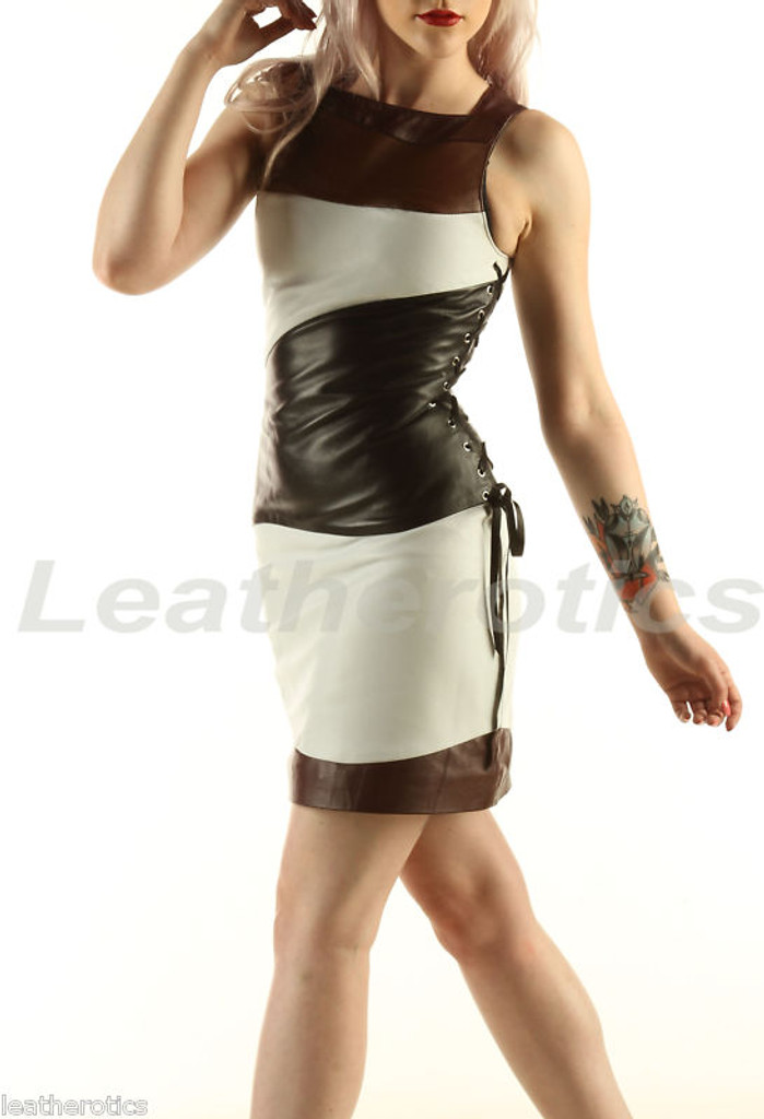 Fitted Ladies Leather Dress Custom Made to Measure