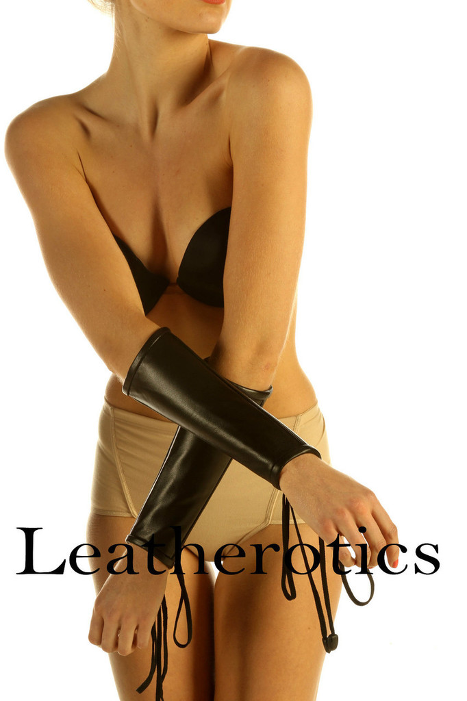 Mistress Leather Lace Arm Gloves