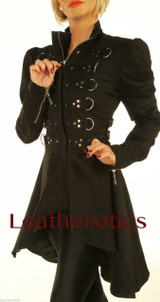 Black Cotton dress Steampunk Ladies Top Jacket STP6