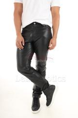 Mens genuine leather pants 1