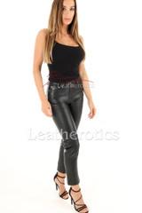 Ladies leather pants 5