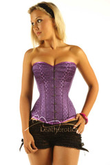 Back Lacing Steel Boned Corset Top Purple Box 1919PR