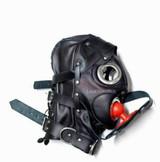 Bdsm Hood Goat Leather Tight mask MASKE 6