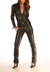 Made To Measure Leather Catsuit Jumpsuit Playsuit For Men & Women
