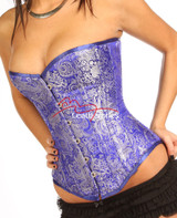 Heavy Brocade silk Corset - front