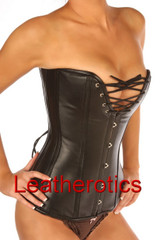 over bust leather corset