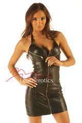 Gorgeous Leather Mini Dress Fetish Sexy Top