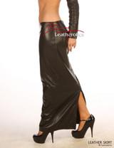 Luxury Real Leather skirt lambskin Full Length