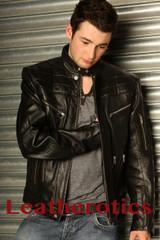 Men's Leather Fashion Jacket Goat Skin Soft Supple