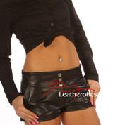 Sexy Leather Shorts with pockets 503