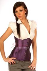purple taffeta corset