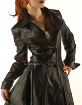 Ladies Leather Victorian Coat
