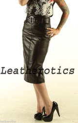 Leather Pencil  Skirt pic 1