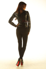 Ladies Soft Leather Shirt Top Clothing Long Full Sleeves back