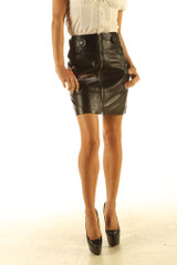 Leather pencil skirt pic 3