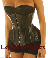 perforated leather corset