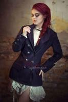 Women's steampunk military jacket