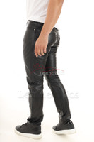 Mens genuine leather pants 2