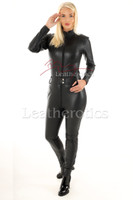 Woman's  perforated leather one piece suit 2