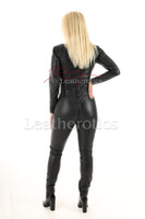 Woman's  perforated leather one piece suit 5 - back