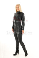 Woman's  perforated leather one piece suit 6