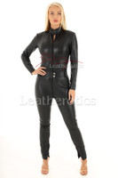 Woman's  perforated leather one piece suit 8