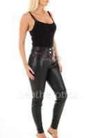 Leather Leggings Skinny Fit 2