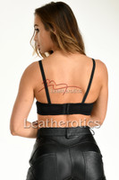 Real leather bra 3 - back