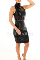 Sexy Leather dress - front 2