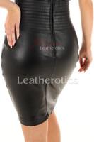 Leather dress - details