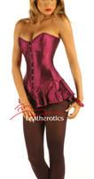 Corseted Skirt Skirted Basque Slimming 1810 Purple Steel Boned