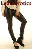 Stretch Natural Leather Leggings STLEGG pic 3