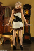 Fitted Ladies Leather Dress Custom Made to Measure back