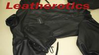 Leather Bodybag Bondage B-Suit with Mask Restraint Gimp suit pic 10