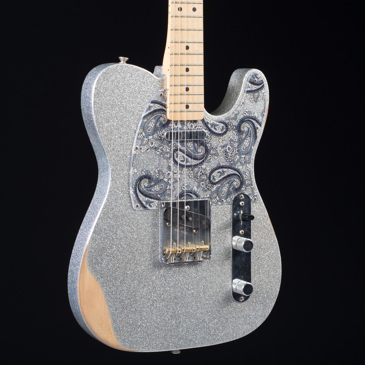 fender brad paisley road worn telecaster silver sparkle 6840 at moore music. Black Bedroom Furniture Sets. Home Design Ideas