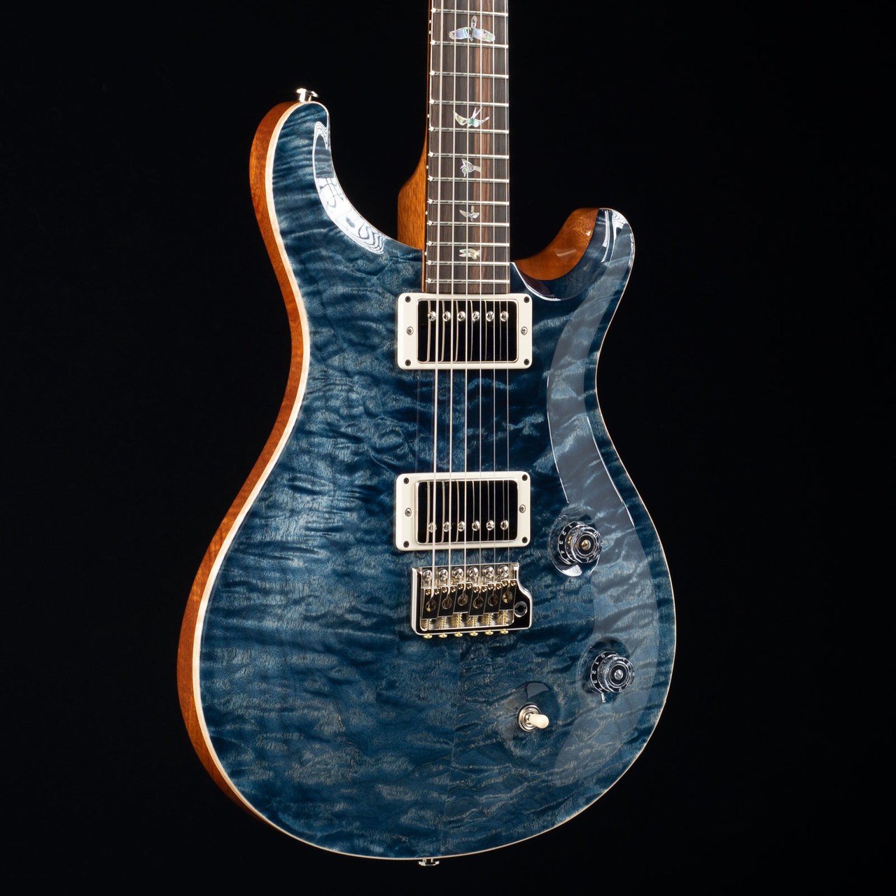 prs custom 22 10 top mun ebony fretboard wood library faded whale blue 1645 at moore guitars. Black Bedroom Furniture Sets. Home Design Ideas