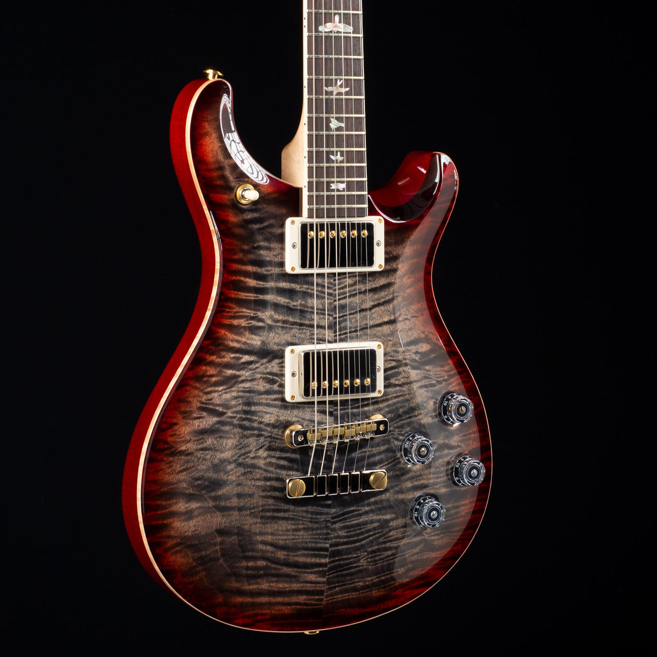 PRS McCarty 594 10 Top Flame Maple Neck Charcoal Cherry Burst 4793
