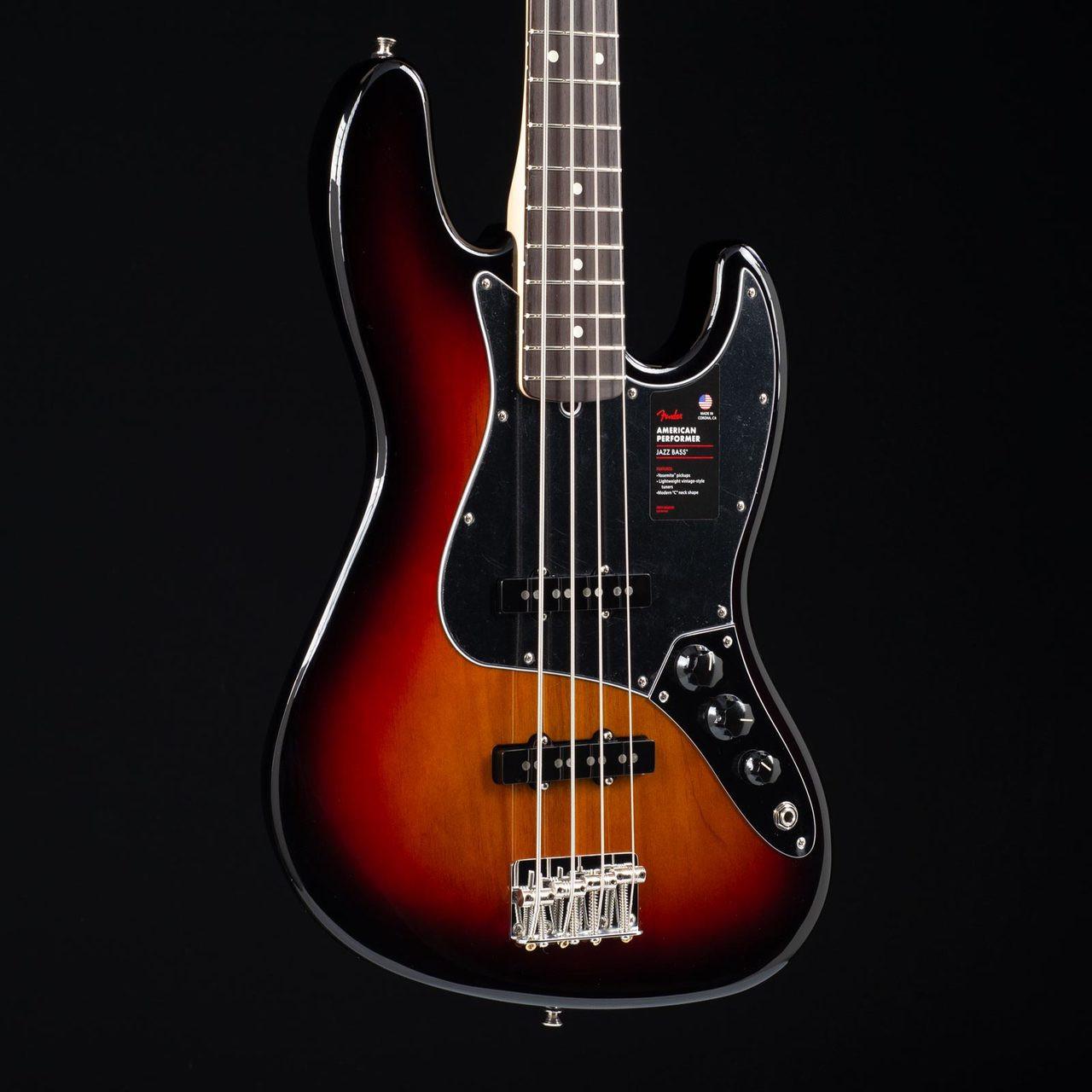 Fender American Performer Jazz Bass Three Tone Sunburst 8698