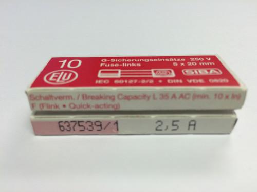 SIBA Fuse 70 001 34 179020 5 x 20 mm 2.5A