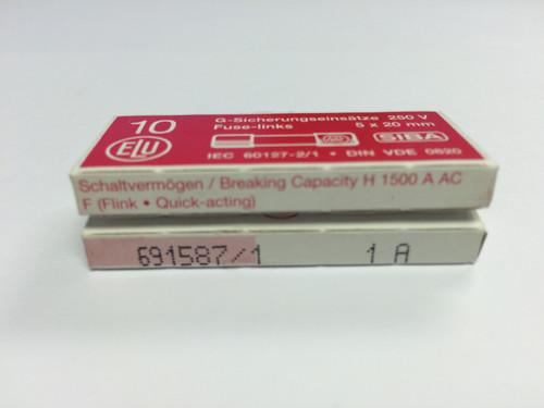 SIBA Fuse 70 007 33 1A Ceramic Quick Acting Fuse