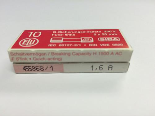 SIBA Fuses 7000733 179021 5 x 20 mm Ceramic Fuse 1.6A