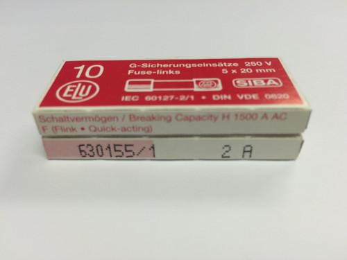 SIBA Fuses 7000733 179021 5 x 20 mm Ceramic Fuse 2A