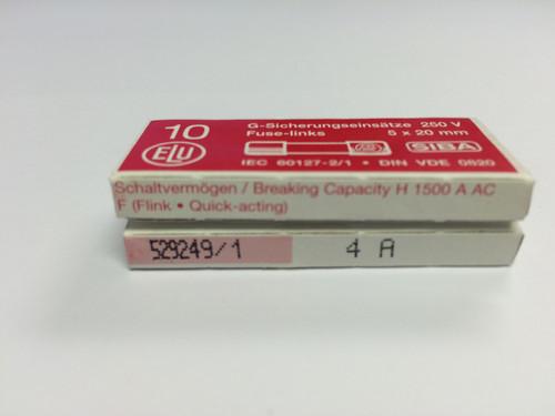 SIBA Fuses 7000733 179021 5 x 20 mm Ceramic Fuse 4A