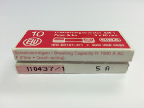 SIBA Fuses 7000733 179021 5 x 20 mm Ceramic Fuse 5A