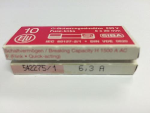 SIBA Fuses 7000733 179021 5 x 20 mm Ceramic Fuse 6.3A