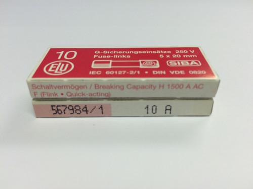 SIBA Fuses 7000733 179021 5 x 20 mm Ceramic Fuse 10A