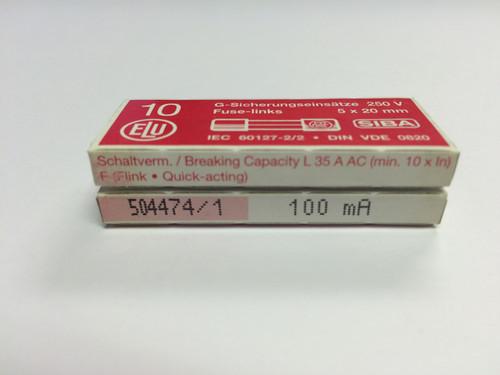SIBA Fuse 70 001 34 179020 100mA 5 x 20 mm