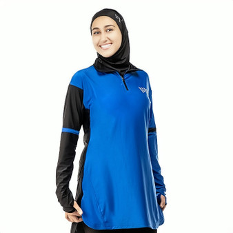 With Honour Eclipse 1/2 Zip Blue Black