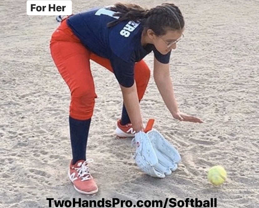Two Hands Pro Girls Softball Player, THP, 2HP, Glove insert